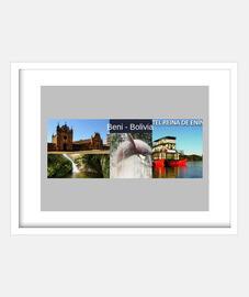 frame with horizontal white frame 4: 3 (20 x 15 cm) beni turismo