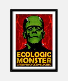frankenstein recyclé. monstre ecologic