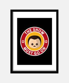 Freddie Show Must Go On Black Cuadro
