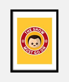 freddie show must go on yellow box