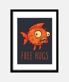 free hugs cartoon blowfish
