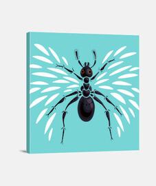 fresco hormiga abstracto insecto alado