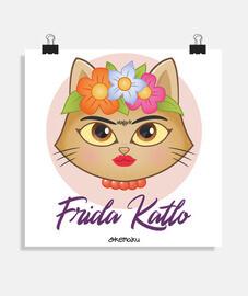 Frida Katlo parodia gata Kahlo