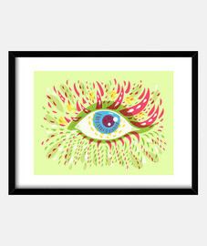 Front Looking Bright Psychedelic Eye
