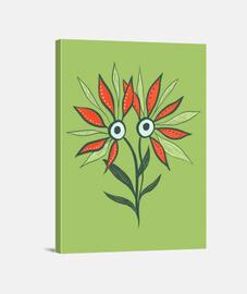 funny cute flower monster