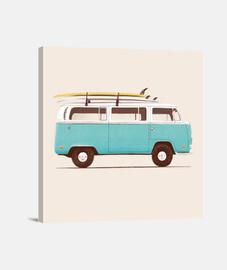 furgone blu