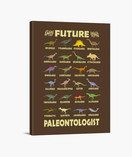 Lienzo Futuro Paleontólogo Amantes Dinosaurios