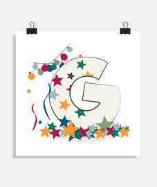 g - affiche carrée