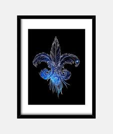 galaxie lis de fleur de plume