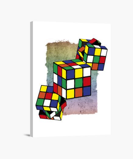 Games - rubik's cube canvas