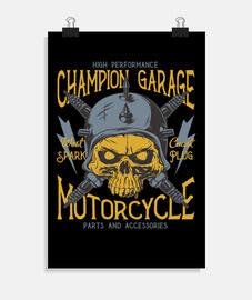 garage motards rétro moto affiche de garage