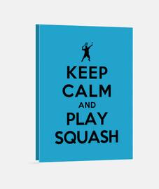 garder calme et jouer au squash