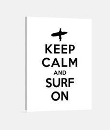 garder calme et surfer sur