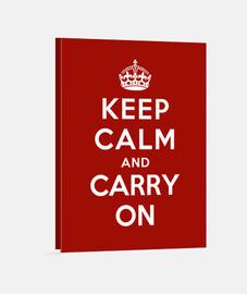 garder le calme et continuer