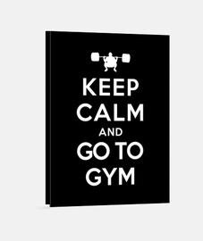 garder son calme et aller à la gym