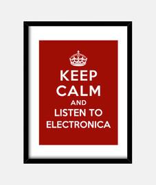 garder son calme et d'écouter electronica