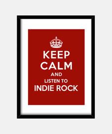 garder son calme et d'écouter indie rock