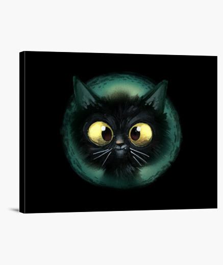 Lienzo gato negro