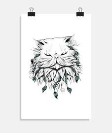 gato persa poético