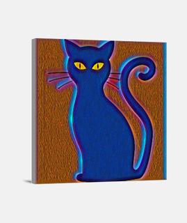 Gato pintado estilo impresionista
