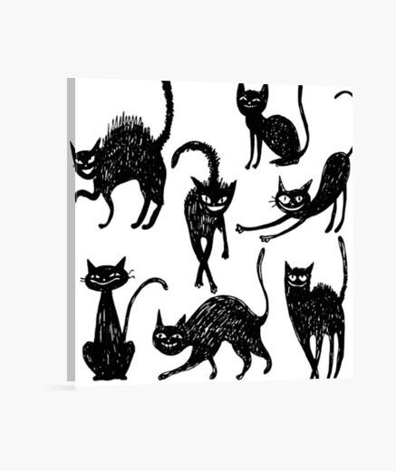 Stampa su tela gatto nero