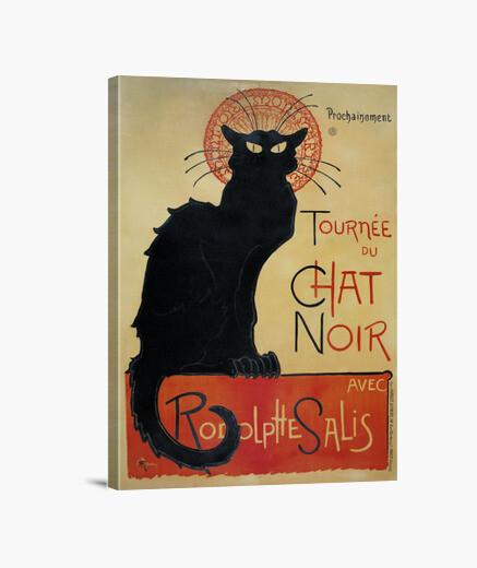 Stampa su tela gatto nero, alexandre steinlen théophile