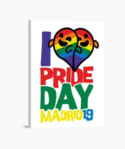 Lienzo Gaysper I Love Pride Day Madrid 2019
