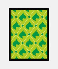 gedruckt boxer - grün