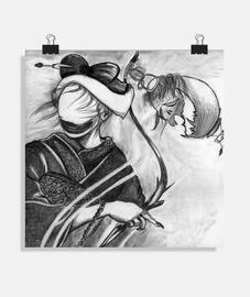 geisha - horreur (dessin à la main)