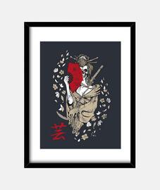 Geisha shirt girl mask skull of death