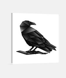 Geometric Crow lienzo