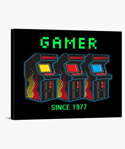 Stampa su tela giocatore senza ce 1977