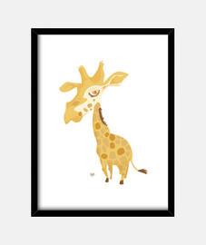 giraffa grande testa