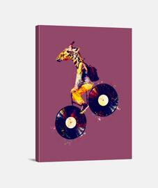 Giraffe Vinyl Street Art Fahrrad