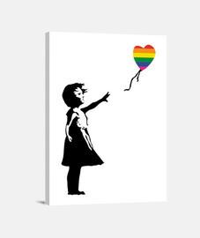 Girl with balloon LGTB