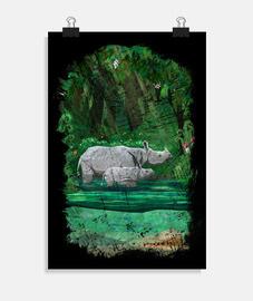 giungla rino t- t-shirt