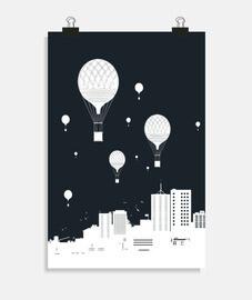 globos y la ciudad