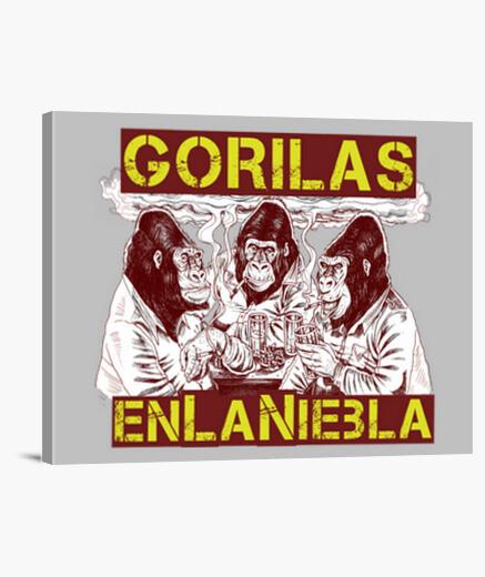 Lienzo GORILAS EN LA NIEBLA