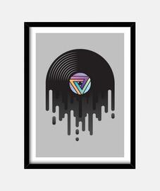 gouttes de vinyle