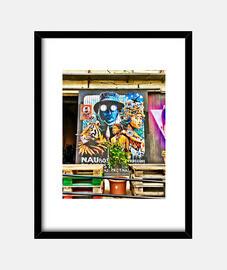 Grafite - Cuadro con marco negro vertical 3:4 (15 x 20 cm)