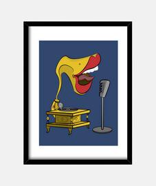 Gramola cantando