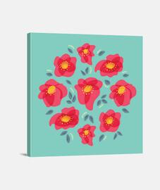 graziosi fiori con petali rosa brillante