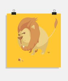 grosse tête de lion