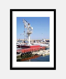Grúa en el puerto de Altea