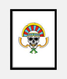 Guerrero no muerto funerario egipcio