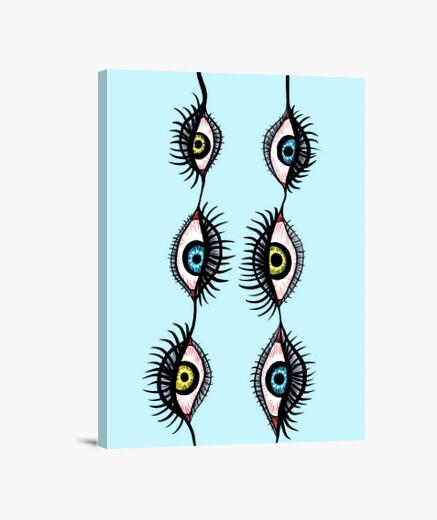 Lienzo Guirnaldas de ojos raros espeluznantes