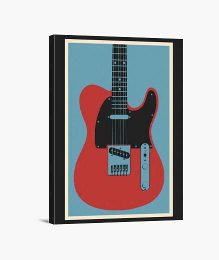 Lienzo guitarra tele