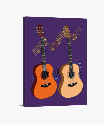 Lienzo guitarras españolas