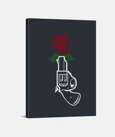 gun & rose (white).