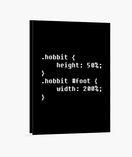 Stampa su tela h0bbitcode